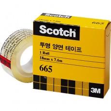 3M투명양면665(리필)18mm*7.6m