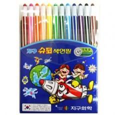 지구수퍼 색연필12색